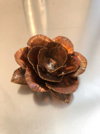 Kleine roos Koper  3x6,5x3cm