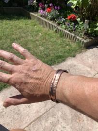 Koperen armband in opdracht