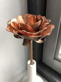 Koperen roos  29cm x 10cm