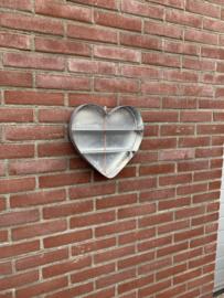 Wanddecoratie hart van Zink 30x30x5cm