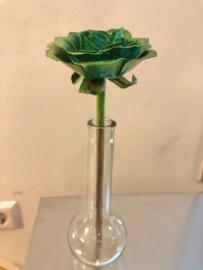 Roos Koper groen met steel 23,5x4x9,5x4,5cm