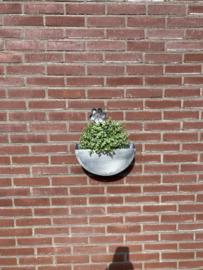 Zinken plantenbak half rond 32x16x10,5cm