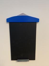 Krijtbord Strandcabine met zinken bevestiging/krijthouder, A4 formaat 37x23x1.5 div. kleuren