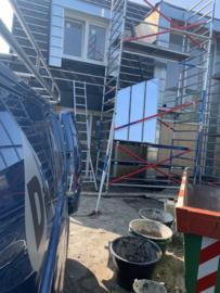 Zinken Fels systeem tegen dak of buitengevel in opdracht
