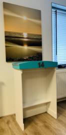 Strandcabine met dak van Zink per stuk H/B/D 100x60x30