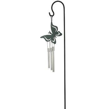Windgong Vlinder 45cm + steker/haak