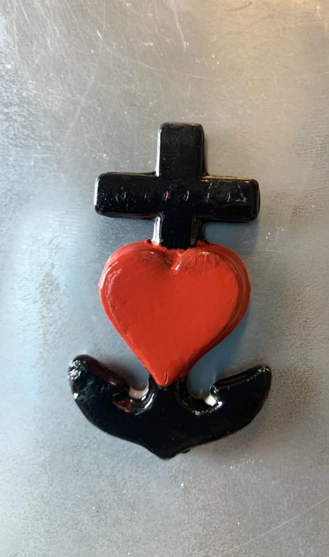 Geloof/Hoop/Liefde Loden-ornamentje 6x3,7cm ZONDER koordje