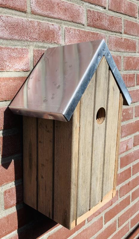 Vogelhuisje van hardhout 38x26x16cm