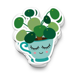 Studio Inktvis - Sticker XL Pilea