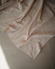 Mushie swaddle (natural stripes)