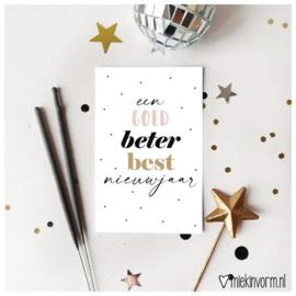 Een goed, beter, best nieuwjaar minikaartje