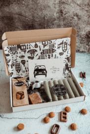 Brievenbus pakket Sinterklaas met amberblokje