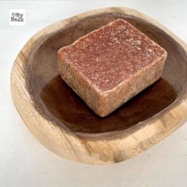 Schaaltje hout + koper schelp capiz