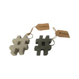 Hashtag sleutelhanger