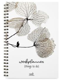 Werkplanner things to do met gedroogde bladeren