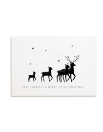 Kerstkaart 'Merry little Christmas'