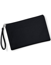 Canvas Wristlet Pouch - Black Black