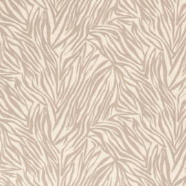 Semi-Linen Printed Leaves Beige