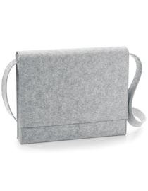 Felt Messenger Bag - Grey Melange