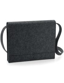 Felt Messenger Bag - Charcoal Melange