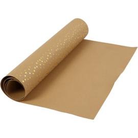 Faux leather papier met print