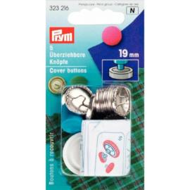 Prym Stofknopen met matrijs 19mm - zilver