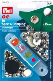 Prym Naaivrijdrukknoop Sport Camping 15mm - zilver