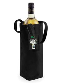Cotton Bottle Bag - Black - Fairtrade