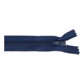 Broekrits nylon 20cm - donkerblauw