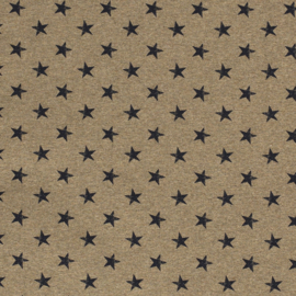 Stars Khaki French Terry - Miss Doodle Summer 2021