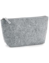 Felt Accessory Bag - Grey Melange