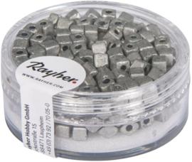 Rocailles vierkant - mat metallic - grijs