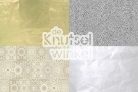Decopatch papier mix goud / zilver
