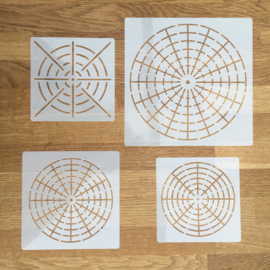 Sjablonen - mandala stijl - set van 4 - B