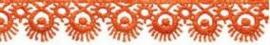Lint - kant - oranje - 16 mm - 1 meter