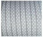 Lint - stipjes - grijs - 10mm - 1 meter