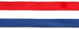 Lint - streepjes - rood & wit & blauw - 15 mm - 1 meter