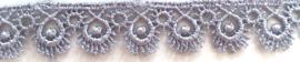 Lint - kant - zilvergrijs - 16 mm - 1 meter