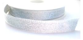 Lint - zilverkleurig - 15 mm - 1 meter