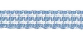 Lint - ruitjes - lichtblauw - 5mm - 5 meter