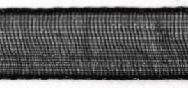 Lint - Organza - zwart - 15mm - 5 meter