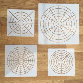 Sjablonen - mandala stijl - set van 4 - A
