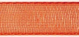 Lint - Organza - oranje - 15mm - 5 meter