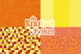 Decopatch papier mix geel / oranje