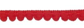Lint - bolletjesband klein - rood - 10 mm - 1 meter