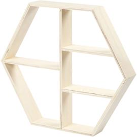Houten hexagon rekje