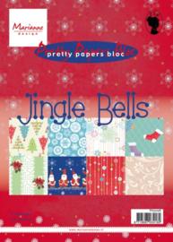 Marianne Design pretty papers bloc A5 - Jingle Bells