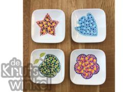 Hippe Stippen - voorbeeld minibordjes met sjablonen