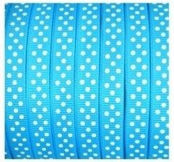 Lint - stipjes - blauw - 10mm - 1 meter