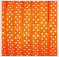 Lint - stipjes - oranje - 10mm - 1 meter